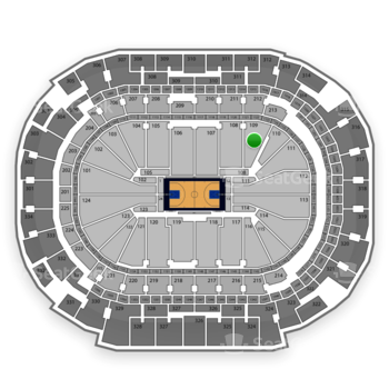Dallas Mavericks at American Airlines Center Section 109 View