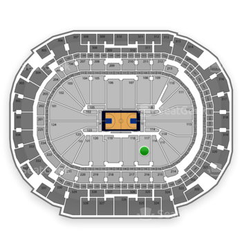 Dallas Mavericks at American Airlines Center Section 117 View