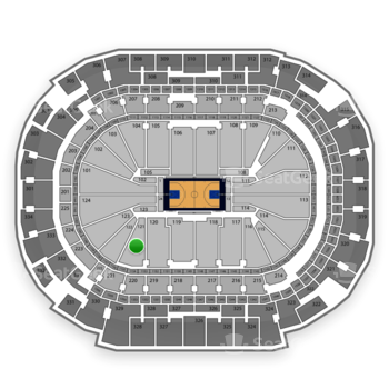 Dallas Mavericks at American Airlines Center Section 121 View