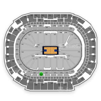 Dallas Mavericks at American Airlines Center Section 219 View