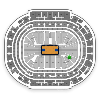 Dallas Mavericks at American Airlines Center Section 102 View