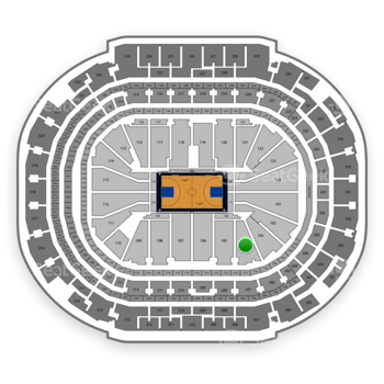 Dallas Mavericks at American Airlines Center Section 104 View