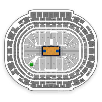 Dallas Mavericks at American Airlines Center Section 110 View
