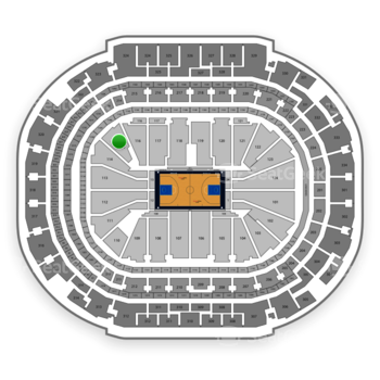 Dallas Mavericks at American Airlines Center Section 115 View