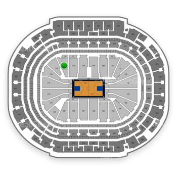 Dallas Mavericks at American Airlines Center Section 116 View