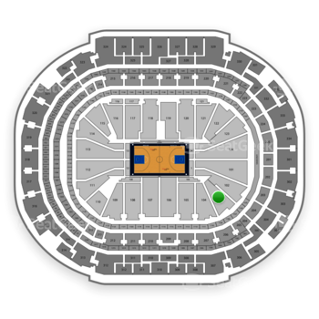 Dallas Mavericks at American Airlines Center Section 103 View