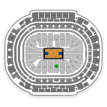 Dallas Mavericks at American Airlines Center Section 106 View