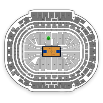 Dallas Mavericks at American Airlines Center Section 118 View
