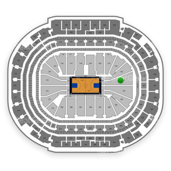 Dallas Mavericks at American Airlines Center Section 124 View