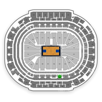 Dallas Mavericks at American Airlines Center Section 208 View