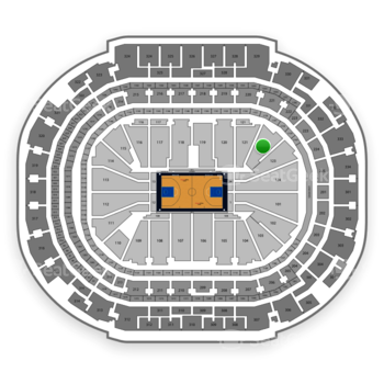 Dallas Mavericks at American Airlines Center Section 122 View