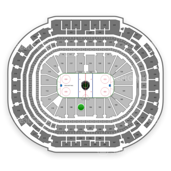 Dallas Stars at American Airlines Center Section 107 View