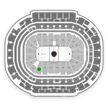 Dallas Stars at American Airlines Center Section 109 View