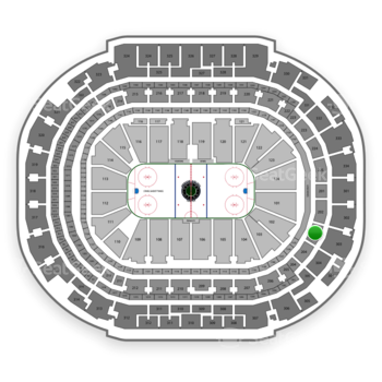 Dallas Stars at American Airlines Center Section 203 View
