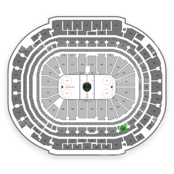 Dallas Stars at American Airlines Center Section 206 View