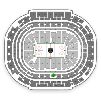Dallas Stars at American Airlines Center Section 209 View