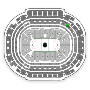Dallas Stars at American Airlines Center Section 222 View