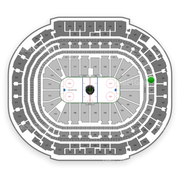 Dallas Stars at American Airlines Center Section 225 View