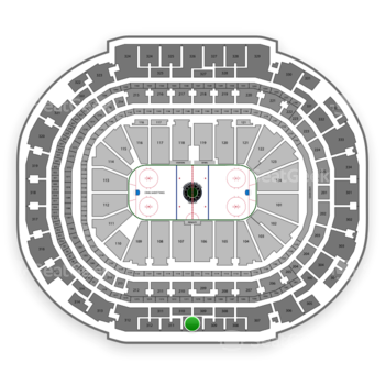 Dallas Stars at American Airlines Center Section 310 View