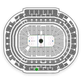 Dallas Stars at American Airlines Center Section 311 View
