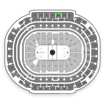 Dallas Stars at American Airlines Center Section 327 View