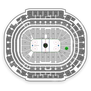 Dallas Stars at American Airlines Center Section 101 View