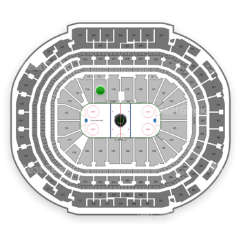 Dallas Stars at American Airlines Center Section 117 View