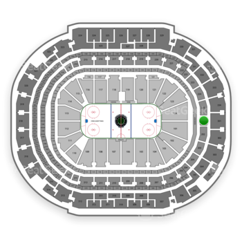Dallas Stars at American Airlines Center Section 201 View