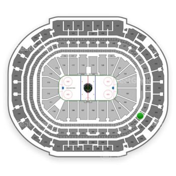 Dallas Stars at American Airlines Center Section 204 View