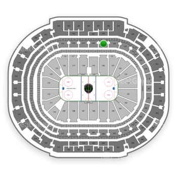Dallas Stars at American Airlines Center Section 219 View