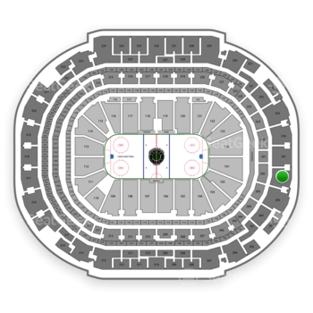 Dallas Stars at American Airlines Center Section 302 View