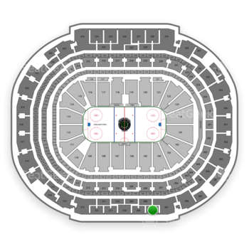Dallas Stars at American Airlines Center Section 308 View