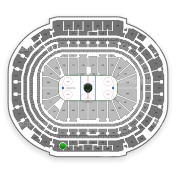 Dallas Stars at American Airlines Center Section 312 View