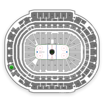 Dallas Stars at American Airlines Center Section 316 View