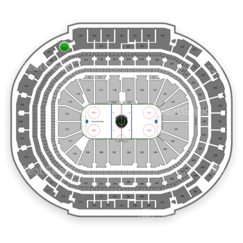 Dallas Stars at American Airlines Center Section 323 View