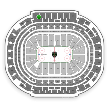 Dallas Stars at American Airlines Center Section 324 View