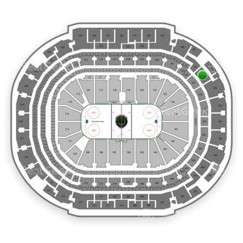 Dallas Stars at American Airlines Center Section 332 View