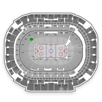 Dallas Stars at American Airlines Center Section 103 View