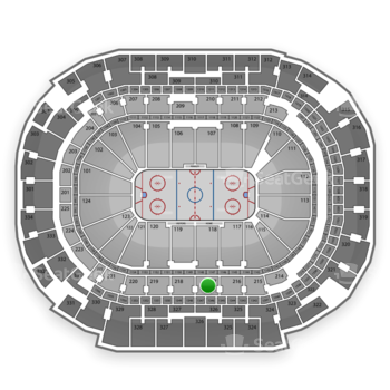 Dallas Stars at American Airlines Center Section 217 View