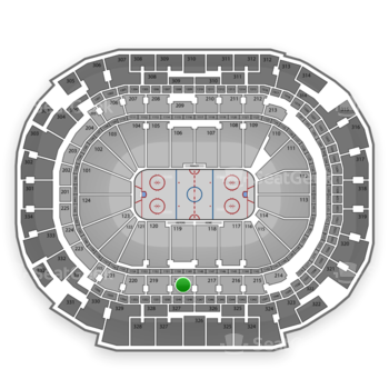 Dallas Stars at American Airlines Center Section 218 View