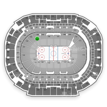 Dallas Stars at American Airlines Center Section 104 View