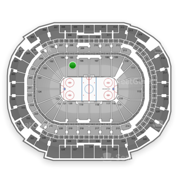 Dallas Stars at American Airlines Center Section 105 View