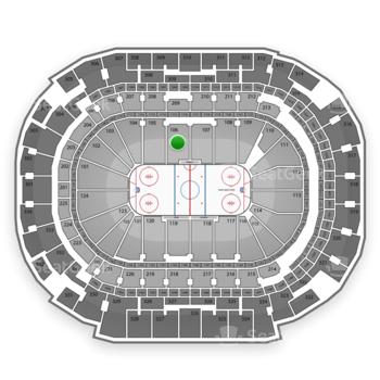 Dallas Stars at American Airlines Center Section 106 View