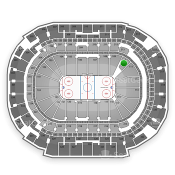 Dallas Stars at American Airlines Center Section 110 View