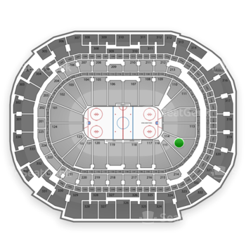 Dallas Stars at American Airlines Center Section 114 View