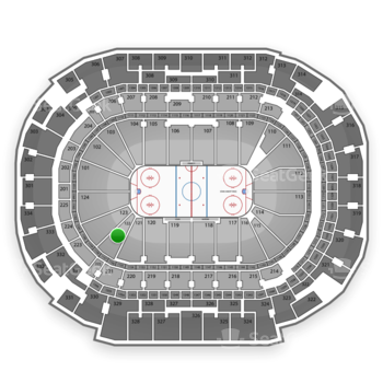 Dallas Stars at American Airlines Center Section 122 View