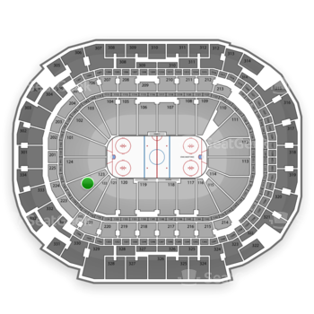 Dallas Stars at American Airlines Center Section 123 View