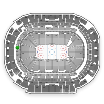 Dallas Stars at American Airlines Center Section 202 View