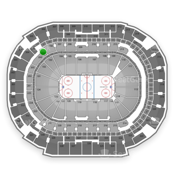 Dallas Stars at American Airlines Center Section 205 View