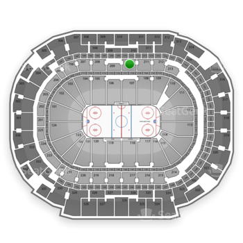 Dallas Stars at American Airlines Center Section 210 View